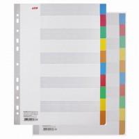 Разделитель картонный А4, 10 листов, цветовой/10 цветов, 225х297 мм, HATBER, 4AR 11004, М22481