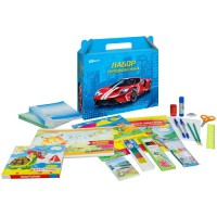 """Набор школьно-письменных принадл. ArtSpace """"Super car"""" в подарочной кор, 28 предметов"""