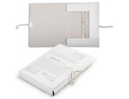 Папка для бумаг с завязками картонная, 40мм, гарантированная плотность 380 г/м2, 4 завязки, до 350л.