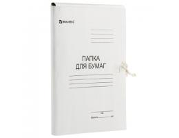 Папка для бумаг с завязками картонная BRAUBERG, гарантированная плотность 300 г/м2, до 200л, 124567