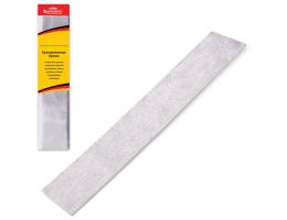 Цветная бумага крепированная BRAUBERG (БРАУБЕРГ), металлик, растяжение до 35%, 50 г/м2, европодвес, серебристая, 50х100 см