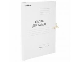 Папка для бумаг с завязками картонная БЮДЖЕТ, гарантированная плотность 220 г/м2, до 200 листов