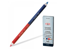 Карандаш двухцветный утолщённый KOH-I-NOOR, 1 шт., красно-синий, грифель 3,8 мм, картонная упаковка, 34230EG006KS