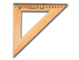Треугольник деревянный, угол 45, 18 см, УЧД, С15
