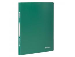 Папка с мет. скоросш. BRAUBERG Стандарт, зеленая, до 100 листов, 0,6мм, 221631