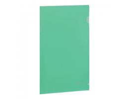 Папка-уголок жесткая BRAUBERG зеленая 0,15мм, 221639