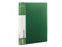 Папка  20 вклад. BRAUBERG Contract, зеленая, вкладыши - антиблик, 0,7мм, бизнес-класс,221774
