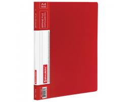 Папка с мет. скоросш. и внутр. карм. BRAUBERG Contract, красная, до 100 лист, 0,7мм,бизнес-класс