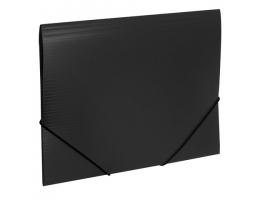 Папка на резинках BRAUBERG Contract, черная, до 300 листов, 0,5мм, бизнес-класс, 221796
