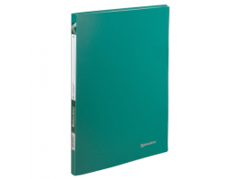 Папка  20 вклад. BRAUBERG Office, зеленая, 0,5мм, 222627
