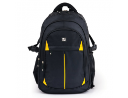 Рюкзак BRAUBERG TITANIUM для старшеклассников/студентов/молодежи, желтые вставки, 45х28х18 см, 224385