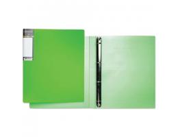 Папка 4 кольца HATBER HD, 25мм, Неоново-зеленая, до 120 листов, 0,9мм, 4AB4_02034(V160213)