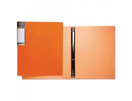 Папка 4 кольца HATBER HD, 25мм, Неоново-оранжевая, до 120 листов, 0,9мм, 4AB4_02035(V160220)