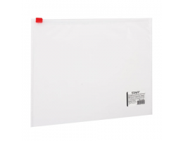 Папка-конверт на молнии МАЛОГО ФОРМАТА (245х190 мм), А5, прозрачная, 0,12мм, STAFF, 224980