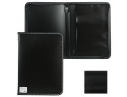 Папка на молнии пластиковая BRAUBERG Contract, А4 335*242мм, внутренний карман, черная, 225162