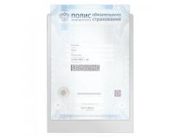 Папка-файл для медицинского полиса, 223*158 мм, без отверстий, 0,12 мм, ДПС, 3127