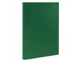 Папка  10 вклад. STAFF, зеленая, 0,5мм, 225691