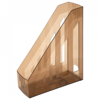 """Лоток вертикальный для бумаг BRAUBERG """"Contract"""", ширина 85 мм, отверстия на торцах, тонир., 230892"""