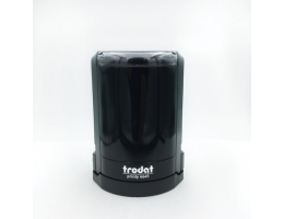 Оснастка для печатей, оттиск D=45 мм, синий, TRODAT 4645, корпус черный, крышка, подушка, 46045/4645