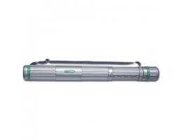 Тубус для чертежей СТАММ телескопический, диам.8,5см, 63-110см, А0, серый на ремне, ПТ12