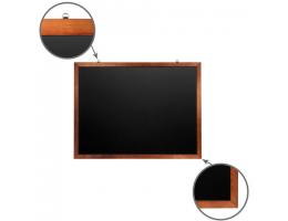 Доска для мела магнитная (90х120 см), черная, деревянная окрашенная рамка, Россия, BRAUBERG, 236893
