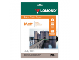 Фотобумага LOMOND для струйной печати A4, 90 г/м2, 100л, односторонняя матовая, 0102001
