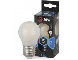 Лампа светодиодная ЭРА, 5 (40) Вт, цоколь E27, шар, холодный белый свет, 30000 ч., LED smdP45-5w-840-E27