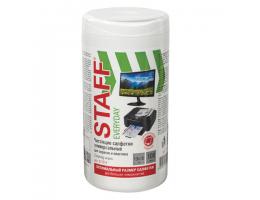 Салфетки для экранов всех типов и пластика универсальные STAFF