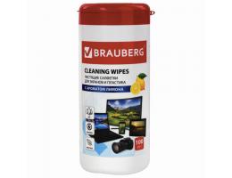 Салфетки для экранов всех типов и пластика BRAUBERG с ароматом