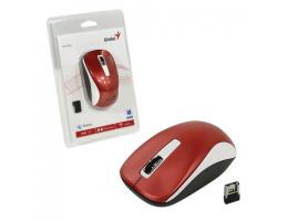 Мышь беспроводная GENIUS NX-7010, 2 кнопки+1 колесо-кнопка, оптическая, бело-красная, 14111