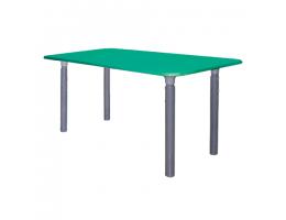 Стол детский, 400(580)х1000х500 мм, регулируемый 0-3 рост, пластиковое покрытие, зеленый, 2 коробки