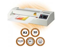 Ламинатор BRAUBERG FGK-320, формат А3, 4 вала (2 горячих + 2 холодных), толщина пленки 1 сторона 60-250 мкм, 531351