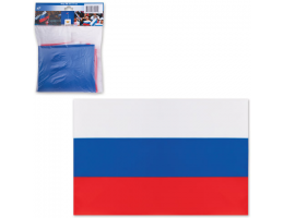 Флаг России 90х135 см, карман под древко, упаковка с европодвесом