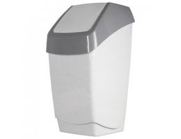 Ведро-контейнер 25 л, с крышкой (качающейся), для мусора,