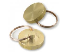 Печать металлическая к опечатывающим устройствам (600411, 601926, 601925), диаметр 25 мм, латунь