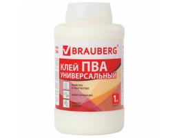 Клей ПВА BRAUBERG 1 кг универсальный (бумага, картон, дерево), 600983