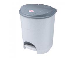Ведро-контейнер 11л С КРЫШКОЙ И ПЕДАЛЬЮ, для мусора, (в33*ш20*г27см), серое, IDEA, М2891