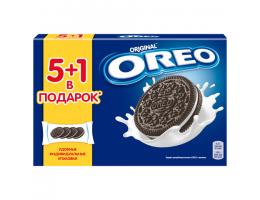 Печенье OREO (Орео) шоколадное, начинка из ванильного крема, 228 г, 6 шт. х 38 г, коробка, 60892